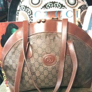 Gucci GG Canvas Vintage Shoulder Bag